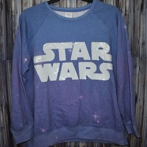 Star Wars Sequin Disney Store Sweatshirt XL